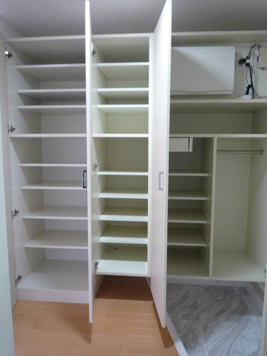 apartment entry closet