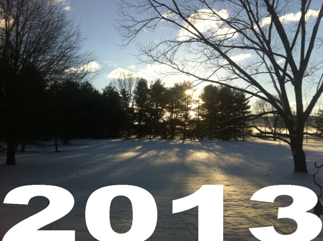 snowy american sunrise