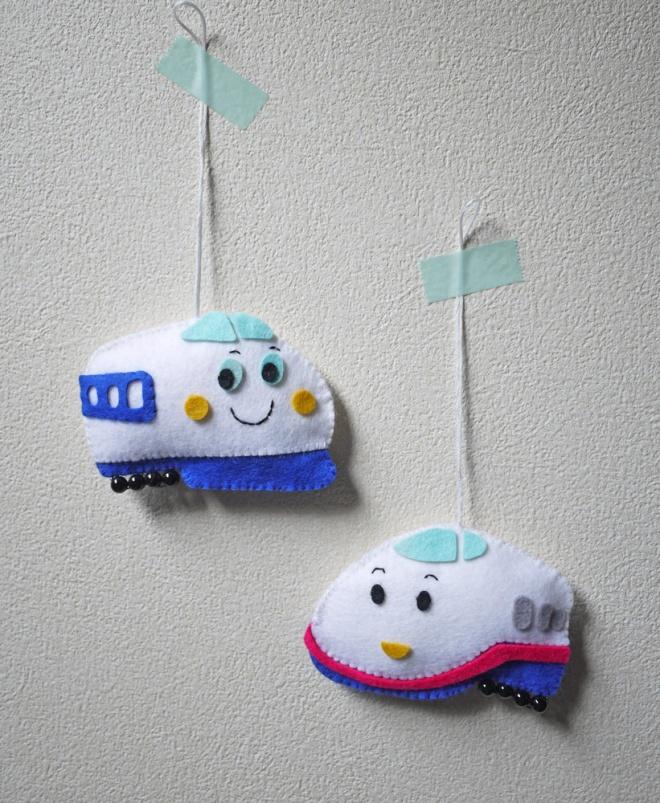 Shinkansen felt ornaments