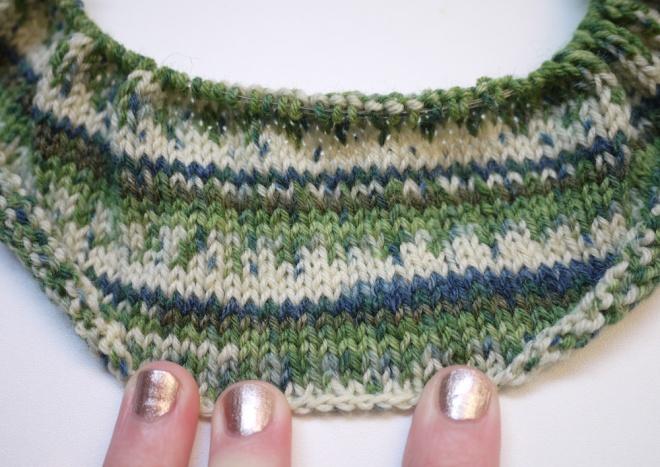 a sock yarn muffler