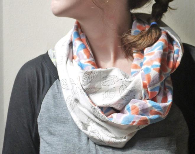 A spring circle scarf.