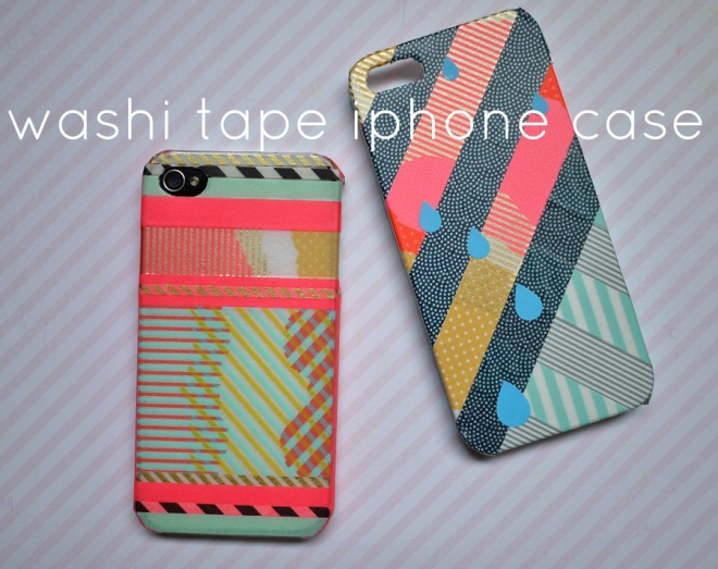 mt tape decorated iphone case, by Saké Puppets