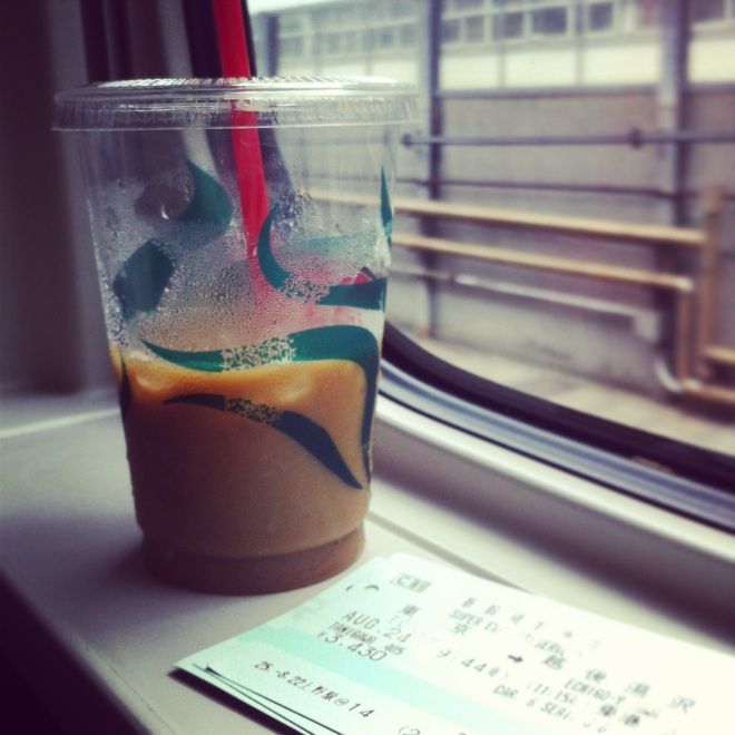 Shinkansen and coffee