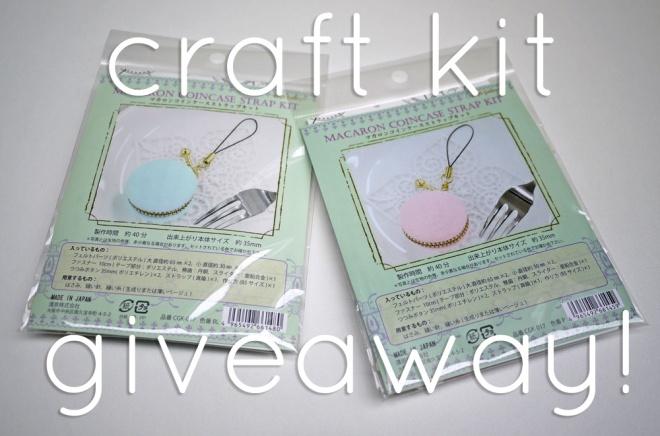 Macaron zipper pouch kit giveaway! via Saké Puppets