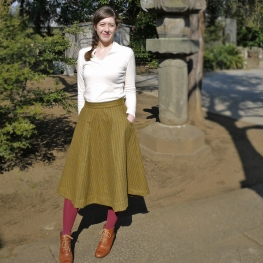 Hollyburn wool skirt, Feb 2013
