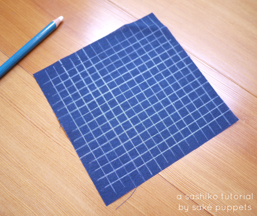 sashiko tutorial by Saké Puppets