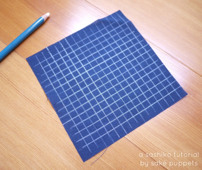 sashiko tutorial by Saké Puppets