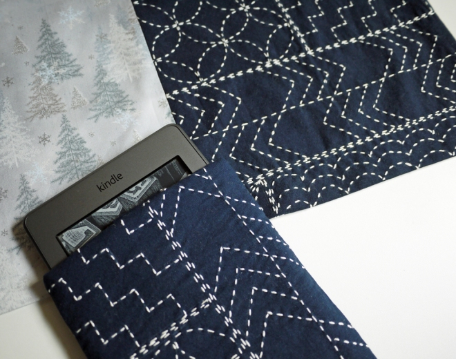 Sashiko is great for iPad, tablet and Kindle cases, pattern by Saké Puppets