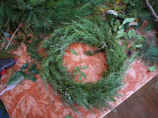 My first attempt! A juniper wreath
