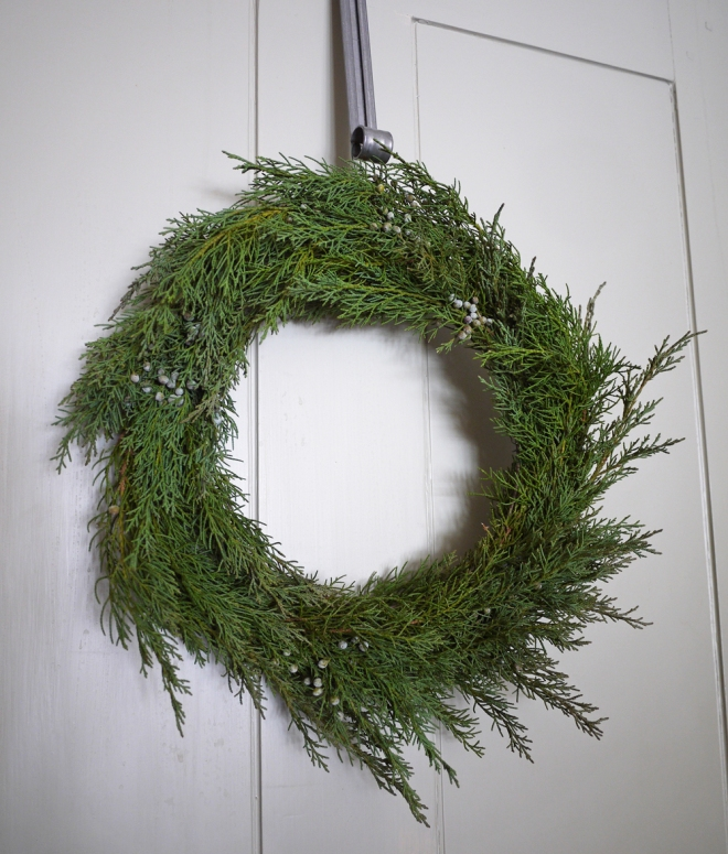 handmade juniper wreath