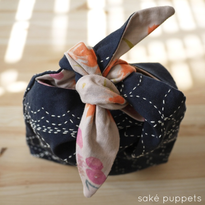 Sashiko for Spring, by Saké Puppets